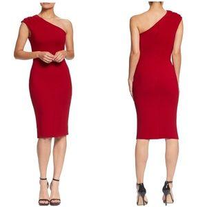 Dress The Population One Shoulder Garnet Dress XXL
